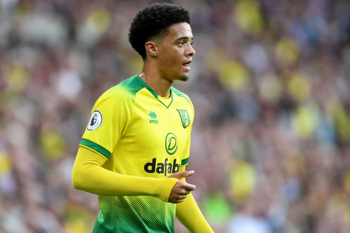 Norwich City's Jamal Lewis during the Premier League match at Carrow Road, Norwich.