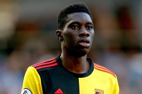 Watford's Ismaila Sarr during the match (Nigel French/EMPICS Sport)
