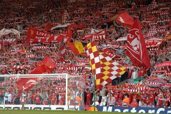 Kop, Anfield, crowd, May 2007, Chelsea ( Tony Marshall/EMPICS Sport)