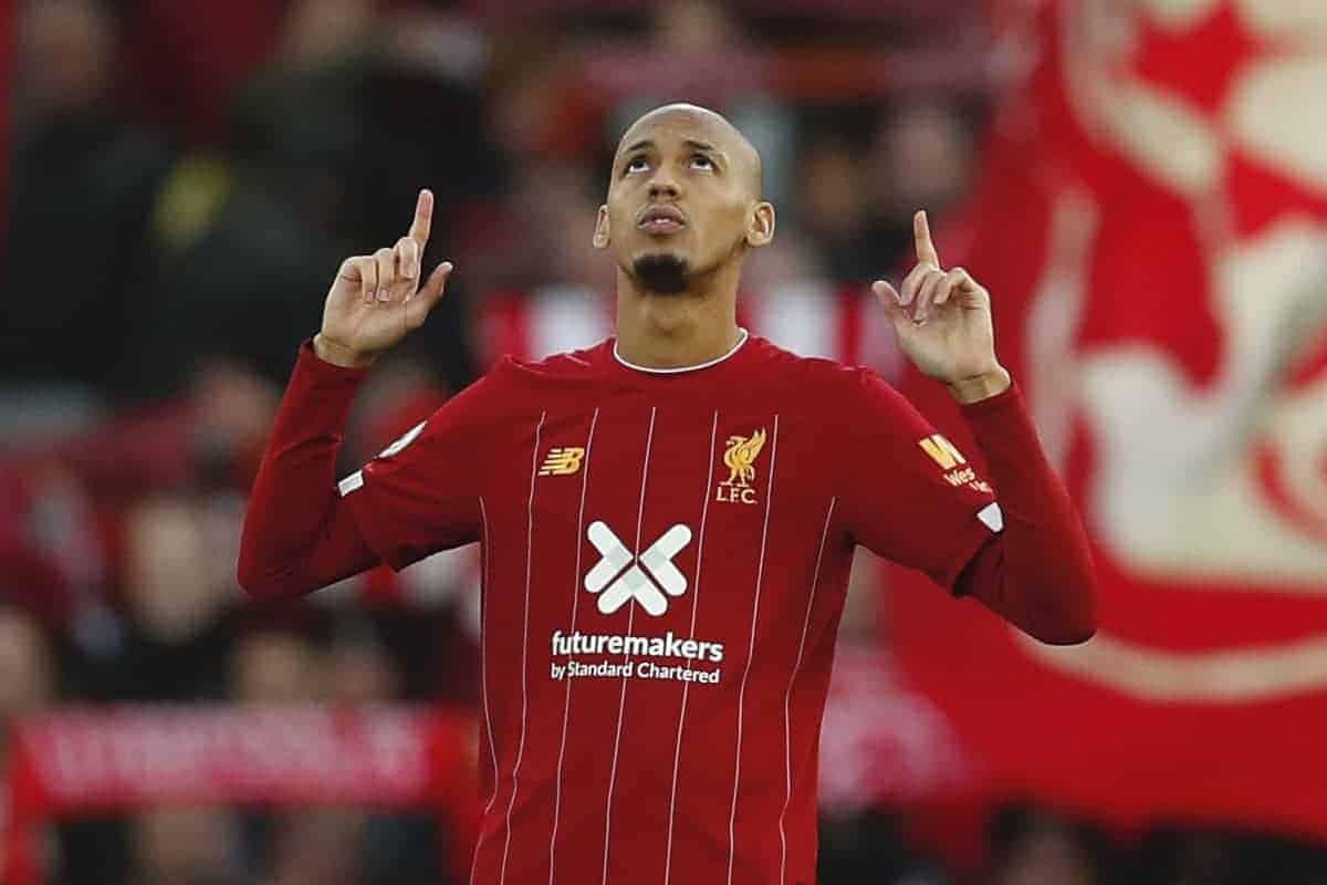 Fabinho of Liverpool (Image: Darren Staples/Sportimage via PA Images)