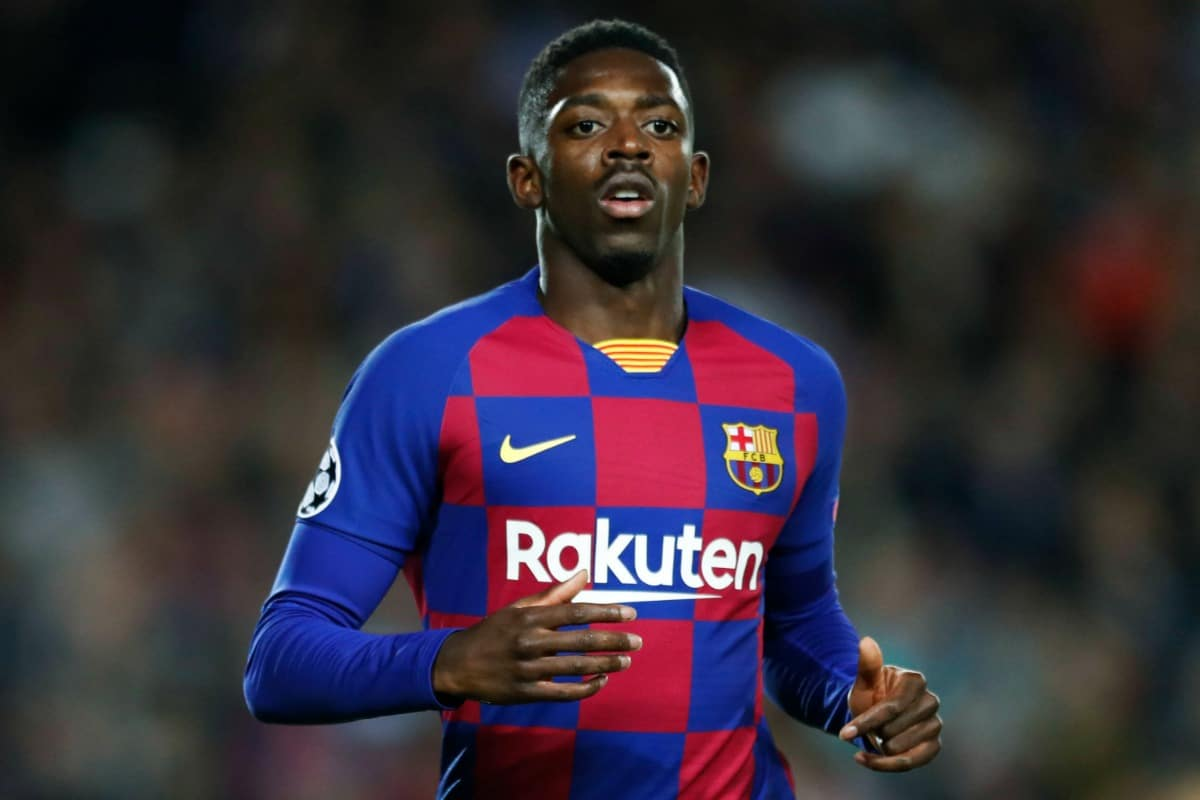 Ousmane Dembele (Barcelona), NOVEMBER 27, 2019 - Football / Soccer : UEFA Champions League Group F match between FC Barcelona 3-1 Borussia Dortmund at Camp Nou stadium in Barcelona, Spain. (Photo by D.Nakashima/AFLO)