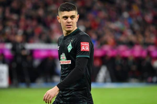 Milot RASHICA (Werder Bremen), action, single image, cut single motif, half figure, half figure. Soccer 1.Bundesliga, 15th matchday, matchday15, FC Bayern Munich (M) - SV Werder Bremen (HB) 6-1, on December 14th, 2019 in Muenchen ALLIANZARENA, DFL REGULATIONS PROHIBIT ANY USE OF PHOTOGRAPHS AS IMAGE SEQUENCES AND / OR QUASI-VIDEO. | usage worldwide