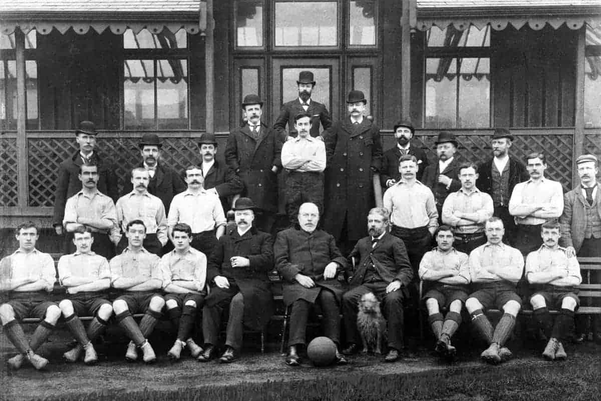 Liverpool team group: (back row of directors, l-r) J Dermott, B Bailey, S Cooper, FC Howarth, A Nisbet, H Cooper, C Gibson, HP Ellis, L Crosthwaite (middle row of players, l-r) John McCartney, Matt McQueen, captain Andrew Hannah, goalkeeper Billy McOwen, Duncan McLean, Douglas Dick, David Henderson, trainer F Whiteway (front row, l-r) Patrick Gordon, Malcolm McVean, Joe McQue, Jim McBride, John McKenna, President John Houlding, J Ramsay, Harry Bradshaw, Jimmy Stott, Hugh McQueen - EMPICS/EMPICS Sport
