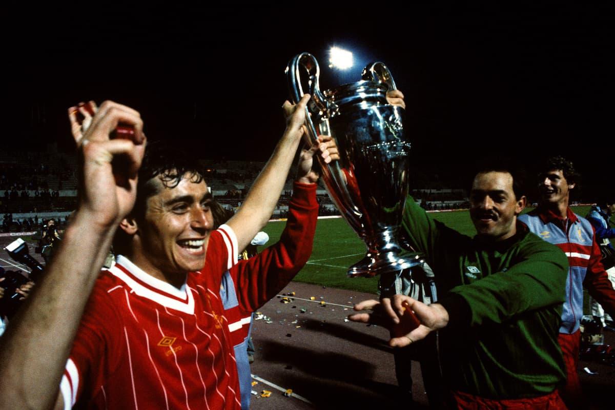 Michael Robinson and Bruce Grobelaar, 1984 European Cup final (Peter Robinson/EMPICS Sport)