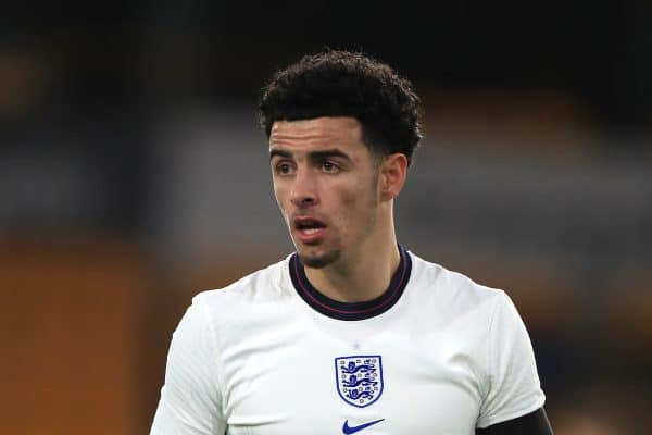 England's Curtis Jones during the UEFA Euro 2021 Under-21 Qualifying Group 3 match at Molineux, Wolverhampton. ( Mike Egerton/PA Wire/PA Images)