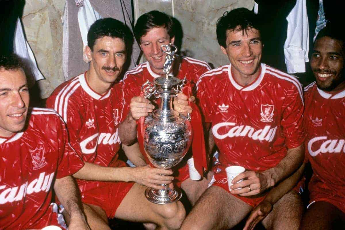 (l-r) Ronny Rosenthal, Ian Rush, Ronnie Whelan, Alan Hansen and John Barnes (All Action/EMPICS Entertainment)