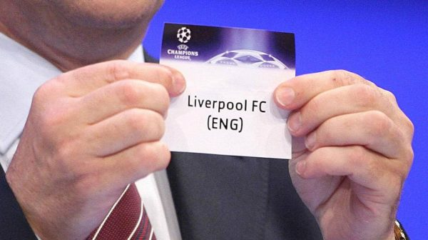 UEFA general secretary David Taylor draws Liverpool out during the Champions League Group Stage draw at the Grimaldi Forum, Monaco.