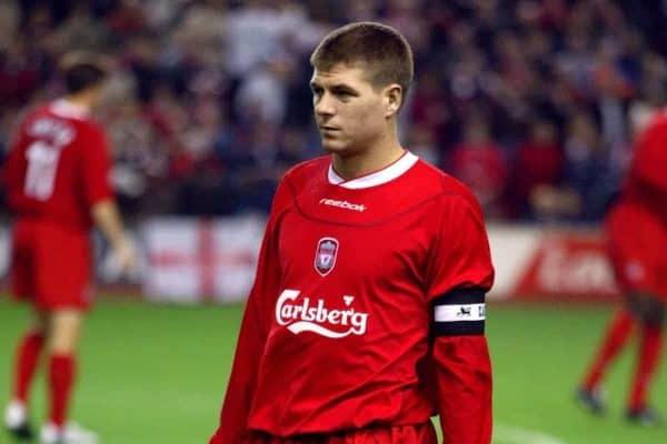 Liverpool's captain Steven Gerrard - UEFA Cup - First Round - Second Leg - Liverpool v Olimpija Ljubljana (Mike Egerton/EMPICS Sport)