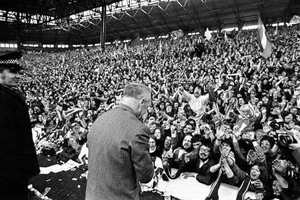 The Kop worships at the feet of Liverpool manager Bill Shankly (Peter Robinson/EMPICS Sport)