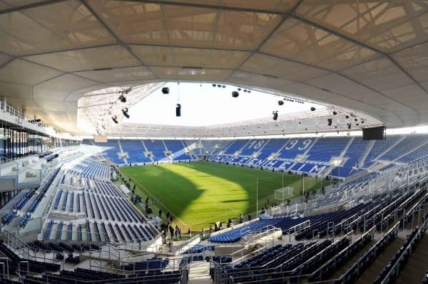 Rhein-Neckar-Arena, Hoffenheim (Image: Bernd Weissbrod/DPA/PA Images)