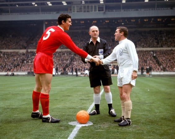 Ron Yeats, all red kit, FA Cup final 1965, Wembley (PA Photos/PA Archive/PA Images)