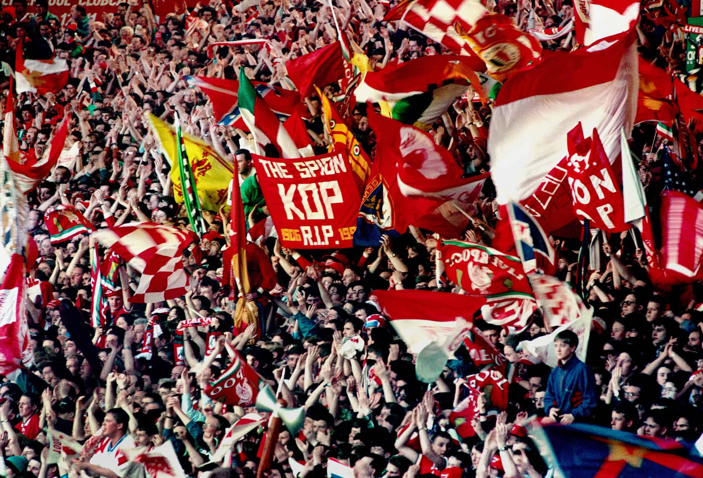 The Kop last stand, Anfield: LIverpool vs Norwich, 1994 (PA Images)