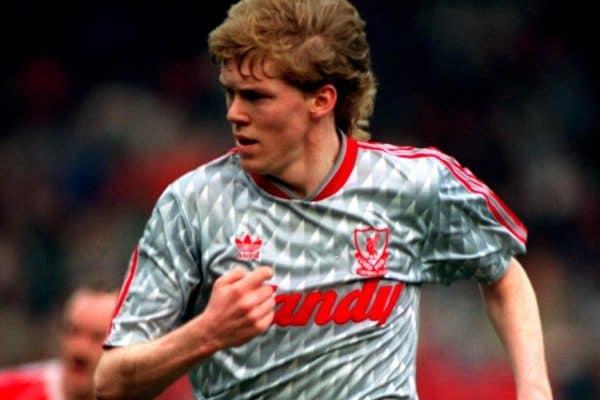 Steve Staunton, Liverpool, 1990 (Neal Simpson/EMPICS Sport)