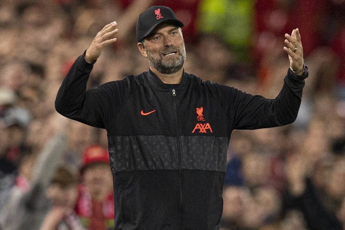 LIVERPOOL, ENGLAND - Wednesday, September 15, 2021: Liverpool's manager Jurgen Klopp during the UEFA Champions League Group B Matchday 1 game between Liverpool FC and AC Milan at Anfield. (Pic by Paul Currie/Propaganda)