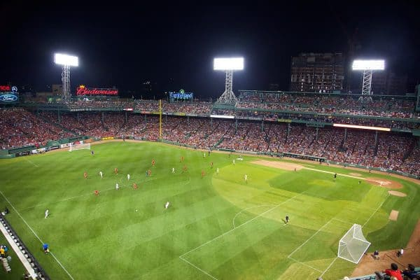 BOSTON, USA - Wednesday, July 23, 2014: Liverpool take on AS Roma at Fenway Park on day three of the club's USA Tour. (Pic by David Rawcliffe/Propaganda)