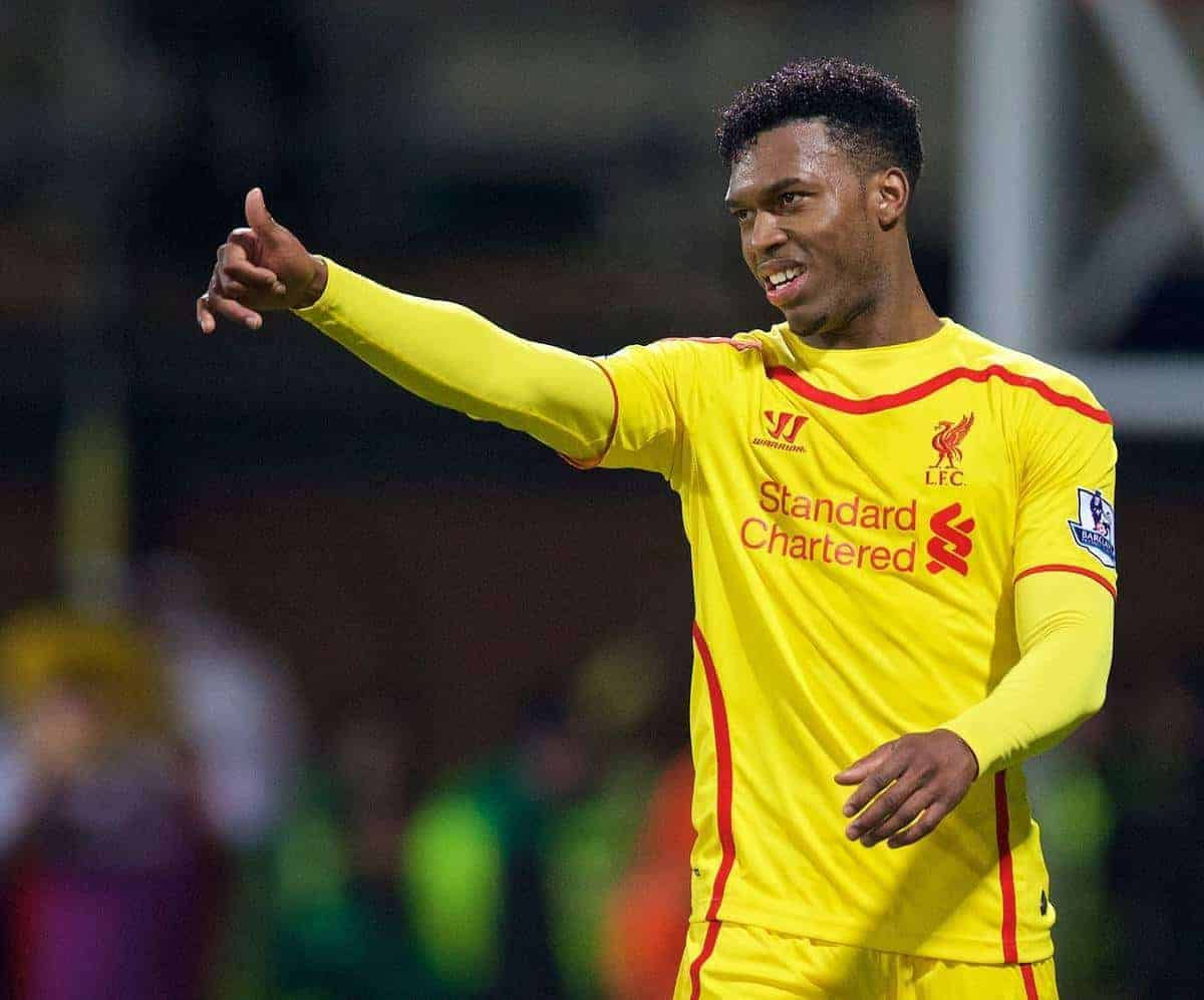 LONDON, ENGLAND - Saturday, February 14, 2015: Liverpool's Daniel Sturridge in action against Crystal Palace during the FA Cup 5th Round match at Selhurst Park. (Pic by David Rawcliffe/Propaganda)