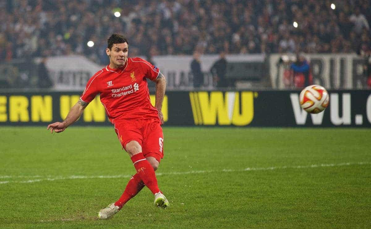 ISTANBUL, TURKEY - Thursday, February 26, 2015: Liverpool's Dejan Lovren blazes the vital fifth penalty over the bar and misses against Besiktas JK in the shoot-out after a 1-1 aggregate draw during the UEFA Europa League Round of 32 2nd Leg match at the Ataturk Olympic Stadium. (Pic by David Rawcliffe/Propaganda)