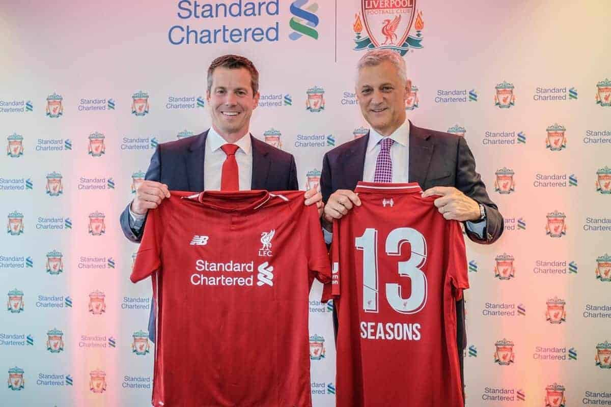 Billy Hogan, Managing Director and Chief Commercial Officer, Liverpool FC with Bill Winters, Group Chief Executive, Standard Chartered.
