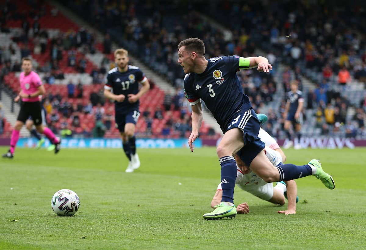 GLASGOW, SCOTLAND - JUNE 14: during the UEFA Euro 2020 Championship Group D match between Scotland v Czech Republic at Hampden Park on June 14, 2021 in Glasgow, Scotland. (Photo by Steve Bardens - UEFA/UEFA via Getty Images)