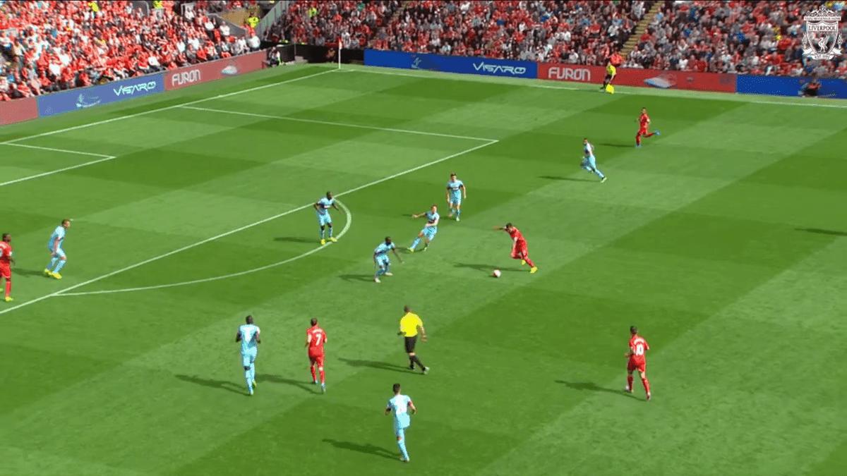 Firmino Shot vs. West Ham 1