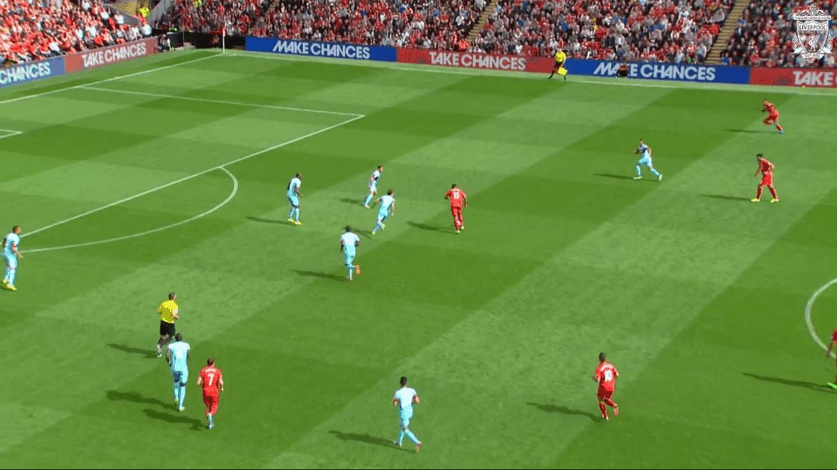 Firmino Shot vs. West Ham 2