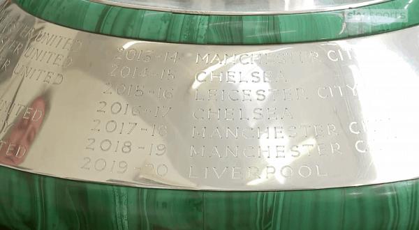 premier league trophy base engraved 2019 20 liverpool