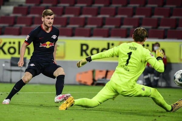 RB Leipzig striker Timo Werner notched his 25th Bundesliga goal of the season against Cologne (Ina Fassbender/AP)
