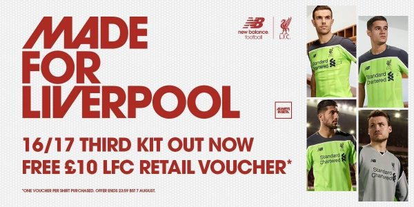 7161974770e Liverpool have released their new third kit for the 2016 17 campaign