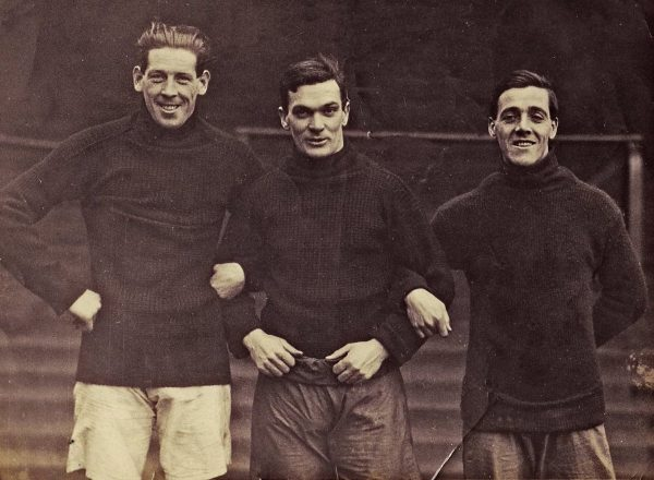 (Please credit within piece: The Wadsworth family) Jock McNab, Walter Wadsworth and Tom Bromilow