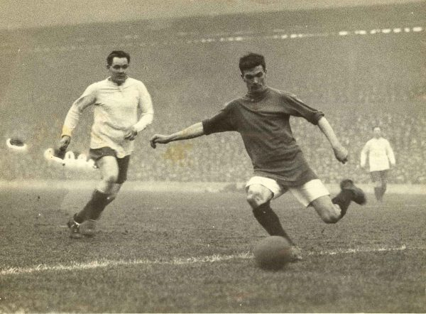 (Please credit within piece: The Wadsworth family) Walter Wadsworth playing for Liverpool