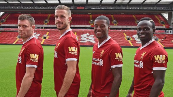 Liverpool FC reveal £25m shirt sleeve sponsor