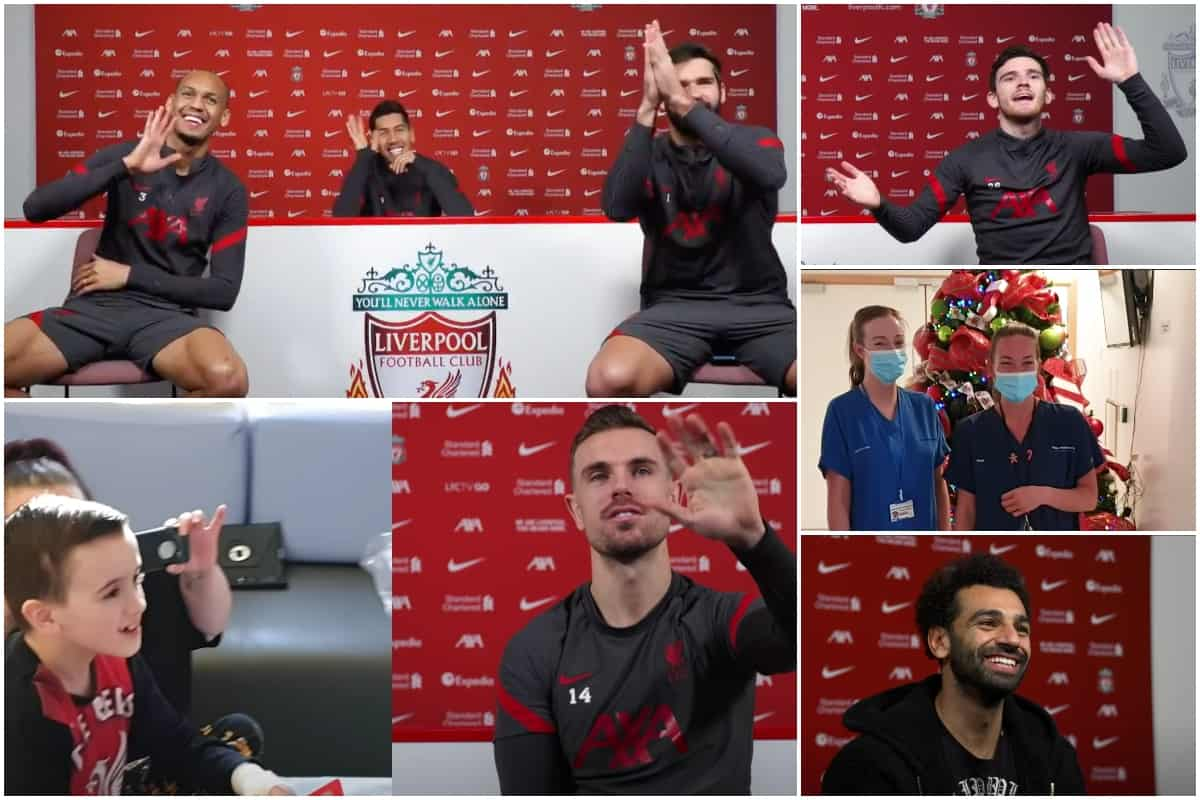 Liverpool Fc S Christmas Visit To Alder Hey Is Just As Heartwarming Over Video Link Liverpool Fc This Is Anfield