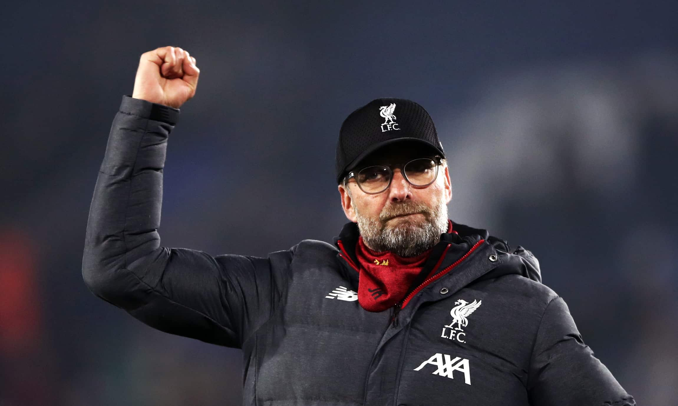 Liverpool manager Jurgen Klopp celebrates victory after the Premier League match at the King Power Stadium, Leicester. (Liverpool manager Jurgen Klopp is refusing to believe his side have one hand on the Premier League title. (Tim Goode/PA))