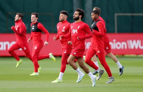 Liverpool players, Melwood, training (Richard Sellers/PA)