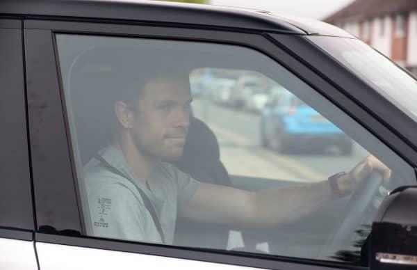 Jordan Henderson arriving at Melwood during coronavirus pandemic (Peter Byrne/PA)