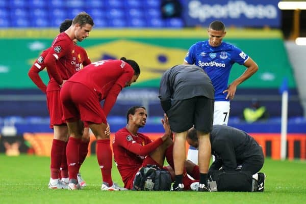 Liverpool's Joel Matip went off injured (PA)