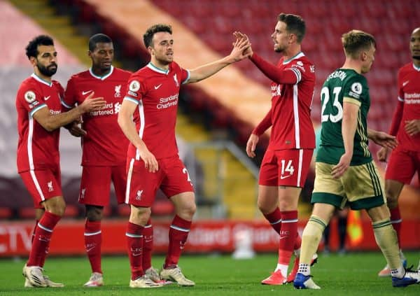 Diogo Jota sealed victory for Liverpool (Stu Forster/PA)