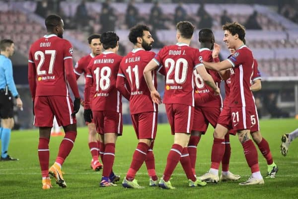 Liverpool drew 1-1 in Denmark; Mohamed Salah goal Midtjylland Champions League (Bo Amstrup/AP)