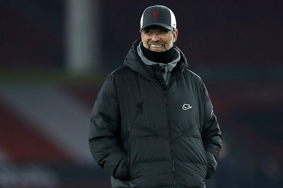Liverpool manager Jurgen Klopp before the Premier League match at Bramall Lane, Sheffield. Picture date: Sunday February 28, 2021.