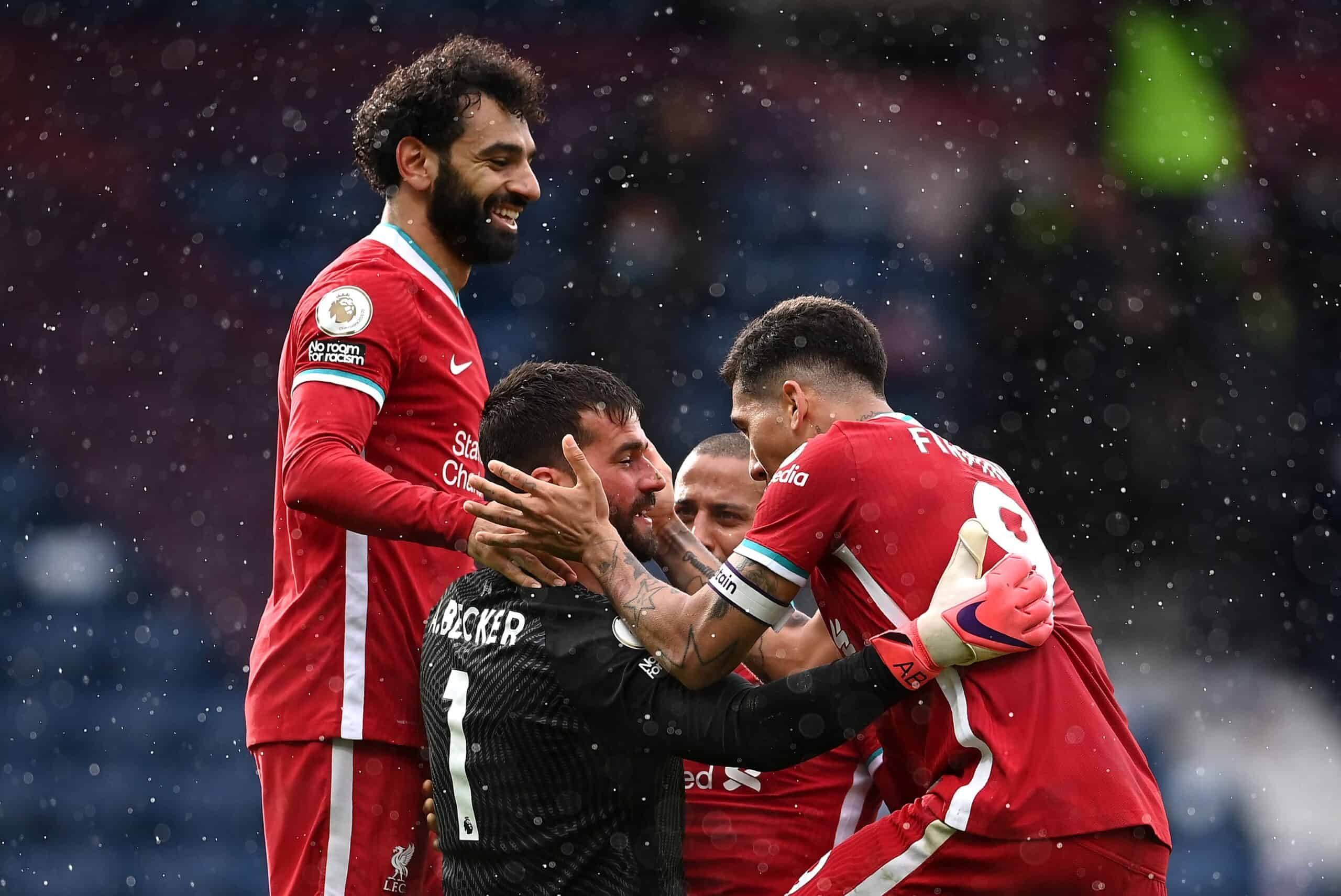 Liverpool goalkeeper Alisson headed home Liverpool's stoppage-time winner at West Brom (Rui Vieira/PA)