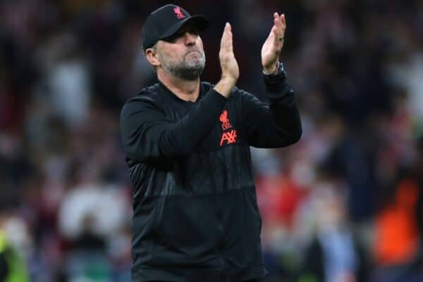Liverpool manager Jurgen Klopp reacts after the UEFA Champions League, Group B match at the Wanda Metropolitano, Madrid. Picture date: Tuesday October 19, 2021.
