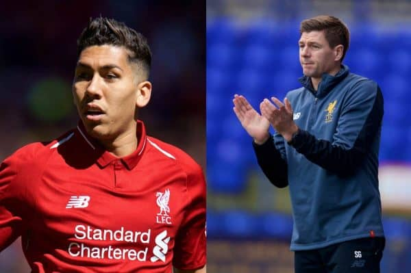 Steven Gerrard's high praise for Roberto Firmino