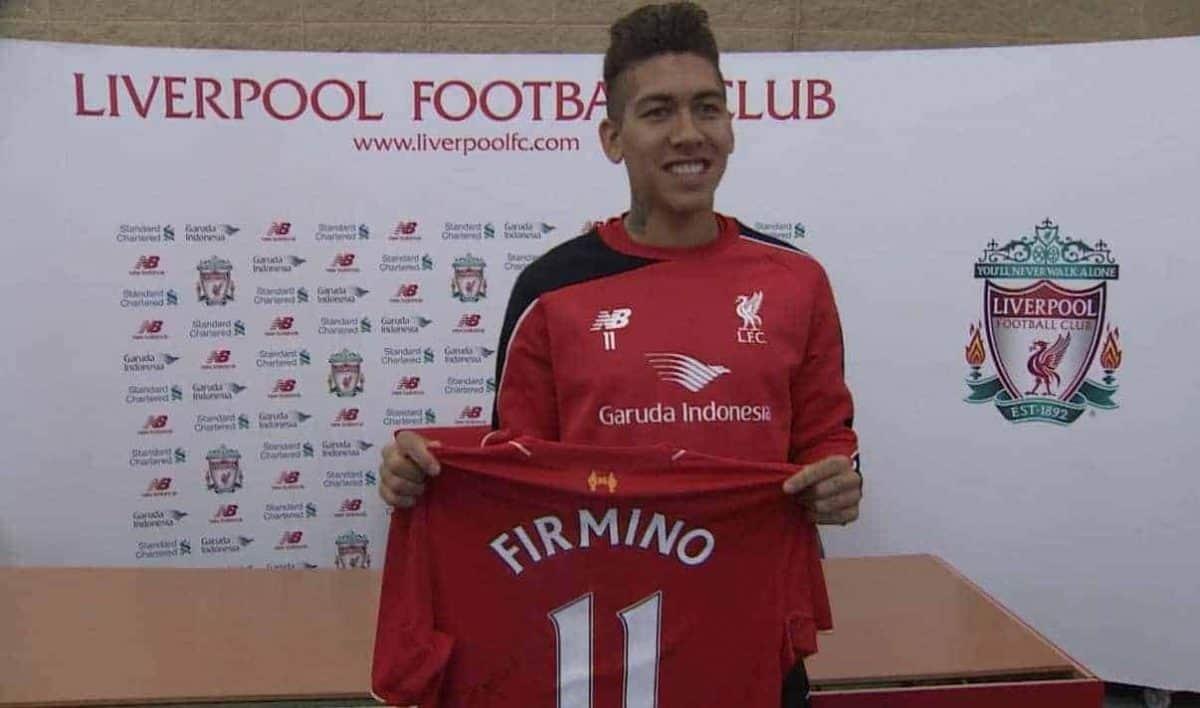 Liverpool Away Firmino Shirt 2016 2017