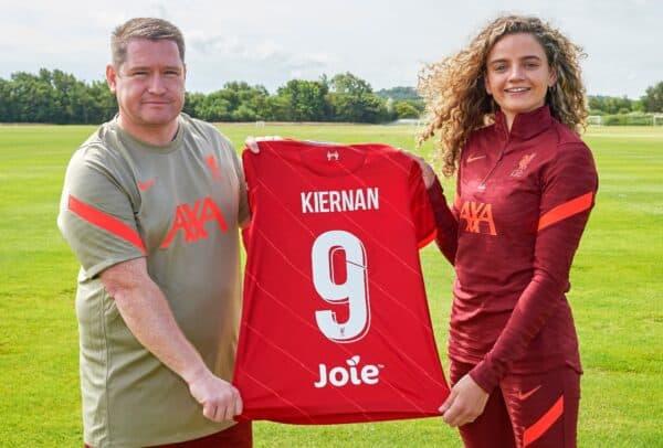 Leanne Kiernan signs for Liverpool FC Women at Solar Campus, 18/06/21.  Photo: Nick Taylor/LFC