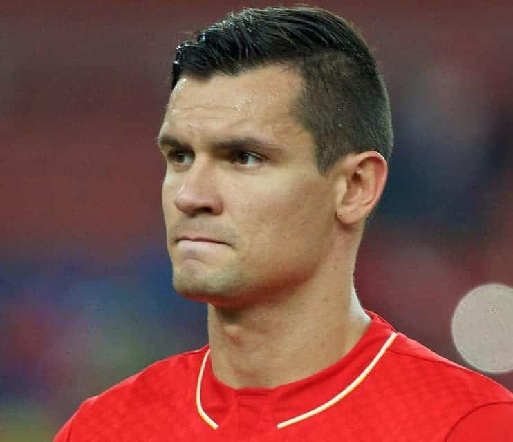 KUALA LUMPUR, MALAYSIA - Friday, July 24, 2015: Liverpool's Dejan Lovren before a friendly match against Malaysia XI at the Bukit Jalil National Stadium on day twelve of the club's preseason tour. (Pic by David Rawcliffe/Propaganda)