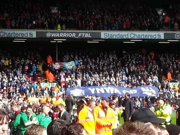 Man City fans showing class in their tributes to the 96. Photo: Dan Holland.
