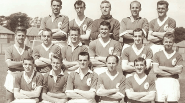 Liverpool squash circa 1961. Johnny is middle row in between Ian St John and Ron Yeats. His cousin Ronnie is back row (right) second from end.
