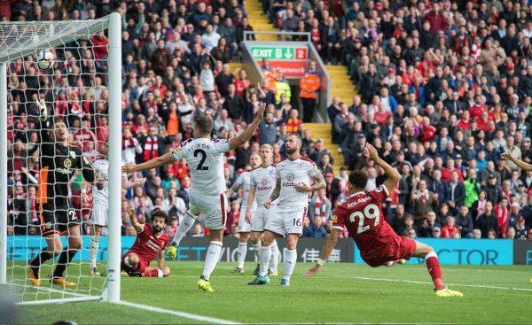 Solanke shot cross bar, Liverpool vs Burnley