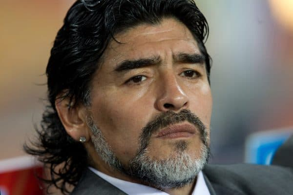 27.06.2010, Soccer City Stadium, Johannesburg, RSA, FIFA WM 2010, Argentina (ARG) vs Mexico (MEX), im Bild Coach of Argentina Diego Maradona during the 2010 FIFA World Cup South Africa. EXPA Pictures © 2010, PhotoCredit: EXPA/ Sportida/ Vid Ponikvar +++ Slovenia OUT +++