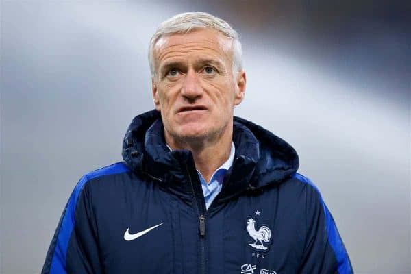 France head coach Didier Deschamps before the international friendly match between France and Wales at the Stade de France. (Pic by David Rawcliffe/Propaganda)
